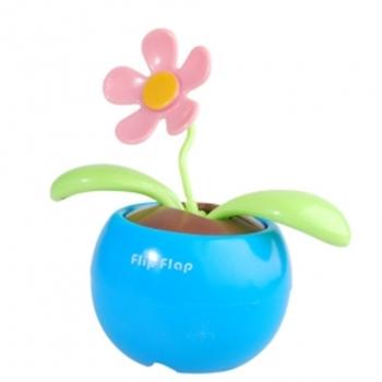 Bild von Flip Flap Blau mit rosa Blüte