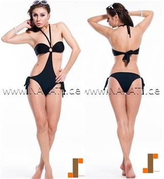 Bild von Bikini - schwarz/Einteiler