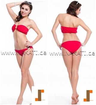 Bild von Bikini - rot/Bustier