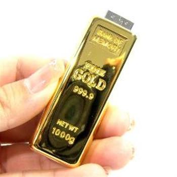 Bild von USB Stick 8GB Design Goldbarren