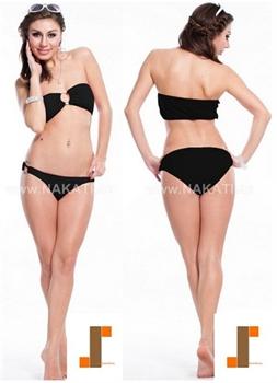 Bild von Bikini - schwarz/Bustier
